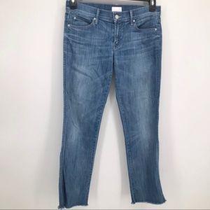 Mother 'Rascal' Crop Stretch Denim Jeans Size 27
